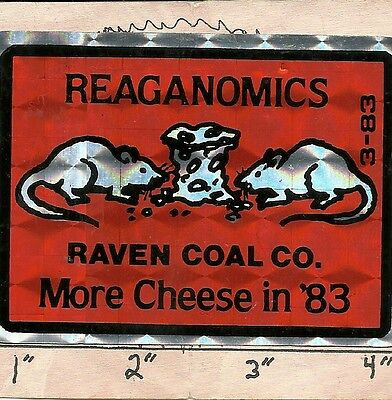 """Raven Coal Co  (Ky) - Hard Hat- Coal Mining Sticker-Decal """"very Rare Vintage"""""""