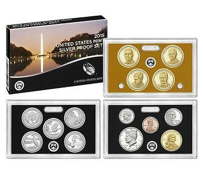 2015 S US Mint 90% Silver Proof 14 Coin Set (SW2) with box and COA low mintage