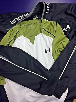 Under Armour Jacket Lot of 2 training shirt Workout Black army green XL Golf