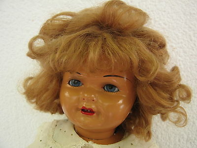 1944's Old Gisela Doll Composition Marked on the neck. Muñeca Antigua