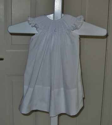 """""""Ready to Smock"""" White Angle Sleeve Bishop 6 months size NEW ! L@@K!"""