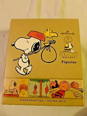 Peanuts Gallery 2013 Hallmark Snoopy & Woodstock Hiking Walking Figure With Box