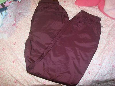 Youth Wind Athletic Pants Small 8-10 Maroon NEW Lined Nylon Weather Resistant