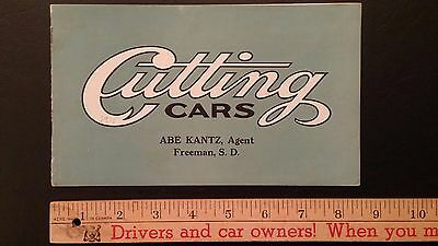 1911 CUTTING - Black and White Catalog Sales Brochure - V.Good *RARE* (US)