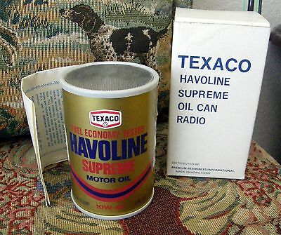 1960's Texaco Havoline Supreme Oil Can Transistor Radio M.i.b. With Papers