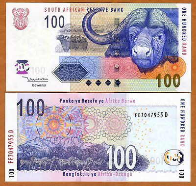 South Africa, 100 rand, ND (2005), P-131a, UNC > Buffalo