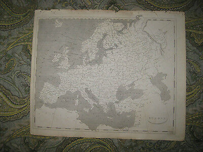 Superb Antique 1805 Europe Copperplate Map Russia Germany France Ireland Italy