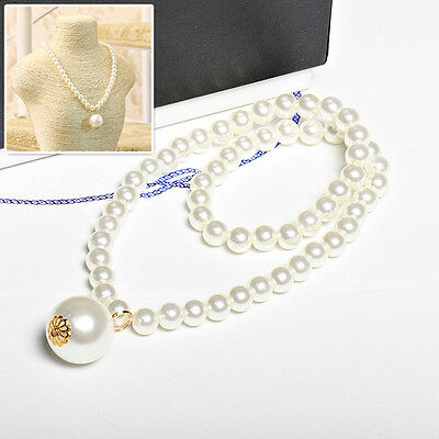 Princess Imitation Pearl Baby Girls Necklace Children Accessories Lovely Pendant