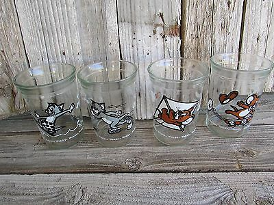 Vintage Set of 4 WELCH'S TOM & JERRY Juice Jelly Glasses 1990
