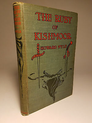 1908 RUBY OF KISHMOOR by HOWARD PYLE PIRATE TALE 1ST ED COLOR PLATES
