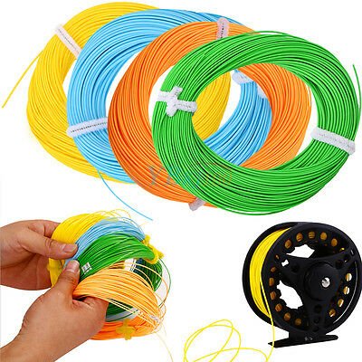 100FT Fast Sinking Floating Running Fly Fishing Line WF-4F/5F/6F/7F/8F Weight