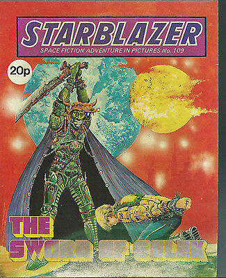 The Sword Of Solek,no.109,starblazer Space Fiction Adventure In Pictures,comic