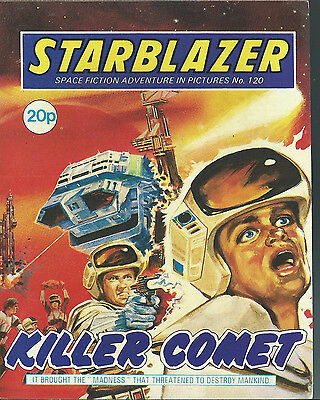 Killer Comet,no.120,starblazer Space Fiction Adventure In Pictures