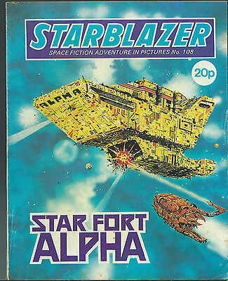 Star Fort Alpha,no.108,starblazer Space Fiction Adventure In Pictures,comic
