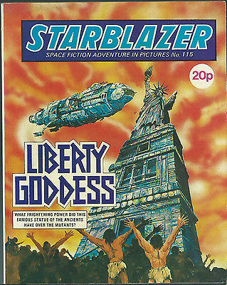 Liberty Goddess,no.115,starblazer Space Fiction Adventure In Pictures,comic