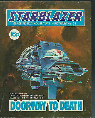 Doorway To Death,no.78,starblazer Space Fiction Adventure In Pictures,comic