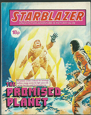 The Promised Planet,no.96,starblazer Space Fiction Adventure In Pictures,comic