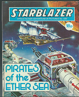 Pirates Of The Ether Sea,no.100,starblazer Space Fiction Adventure In Pictures