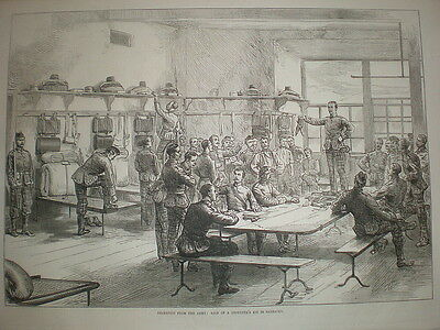 Desertion in the Army Auction of a Deserter's kit in barracks 1875 old print