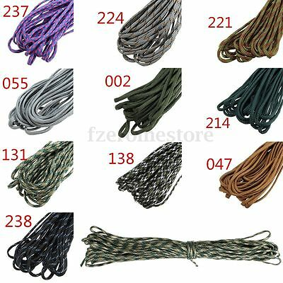 50FT 15m Nylon Desert Parachute Cord Paracord 550 7 Core Strand Outdoor Survival
