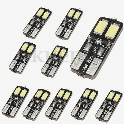 10x T10 W5W 168 194 LED Canbus 5630 4 SMD Innenraumbeleuchtung Lampe Licht Weiß