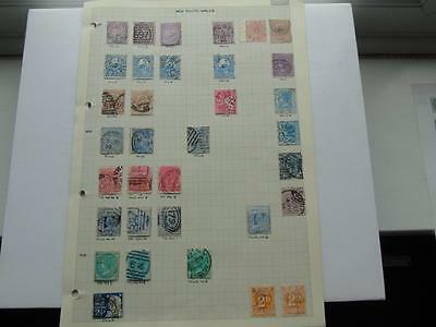 Collection Early Australia Stamps inc. Victorian Scarce Types? Australian States