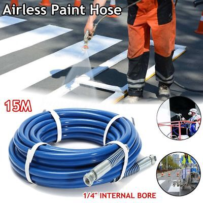 1/4'' Airless Paint Sprayer Hose 50ft 3300PSI Pipe Tube For Graco Wagner Titan