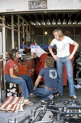 James Hunt & Barry Sheene F1 Portrait Japanese Grand Prix 1976 Photograph