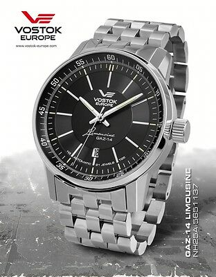 Vostok Europe GAZ 14 Automatic with Trigalights NH35A-5651137b NEW
