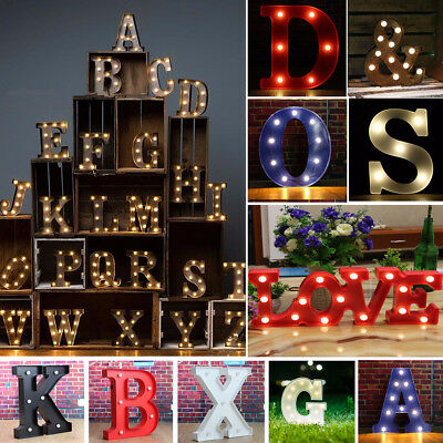 12'' LED Marquee Letter Alphabet Light Vintage Circus Style Light Up Christmas