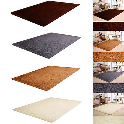Shaggy Fluffy Anti-slip Area Rug Carpet Blanket Mat Pad For Living Room Bedroom
