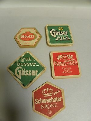 """Lot """"18"""" Vintage Mixed Import Bar Beer Advertising Coasters (A5)"""