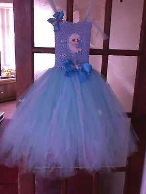 girls party dress 5/6 yrs  frozen theme