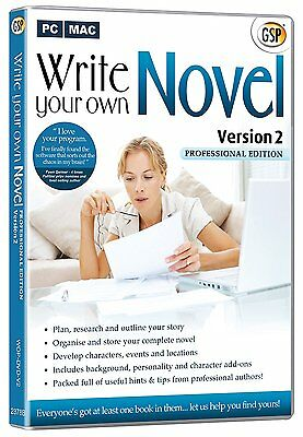 Write Your Own Novel Professional Software CD Rom PC/Mac Guide to Writing a Book