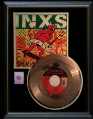 Inxs Devil Inside Gold Record Disc & 45 Rpm Sleeve Rare!!
