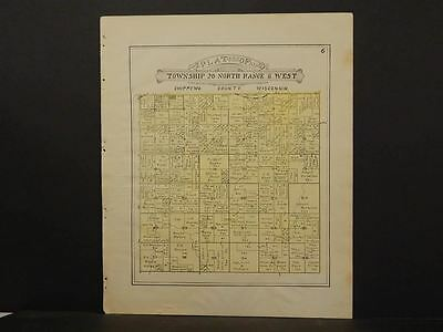 Wisconsin Chippewa County Map Siegal Edson Township 1913  Y11#43