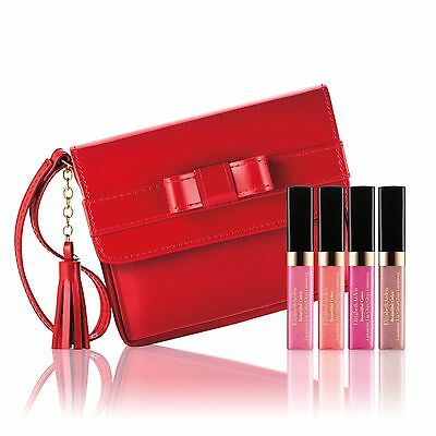 Elizabeth Arden 4 Beautiful Color Luminous Lip Gloss in Red Pourch