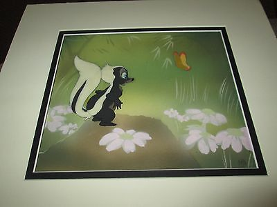 Disney Bambi Flower Courvoisier background 1942 Production cel