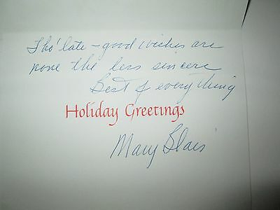 Disney Mary Blair signed holiday greeting cel animation card rare