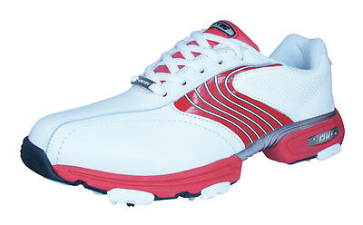 Hi- Tec HT Sport Waterproof Mens Leather Cleated Golf Shoes - White