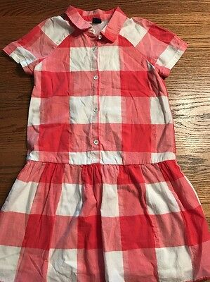 Gap Kids Girls Size Medium, 8 Gingham Short Sleeve Dress EUC