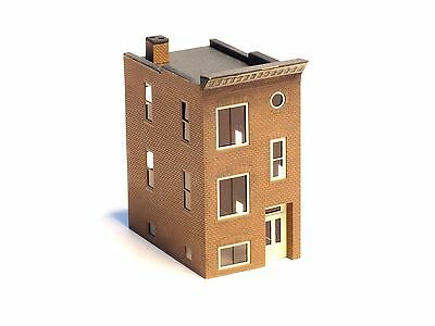 Z-scale Micro Structures Built Town House #2 brass high detailing
