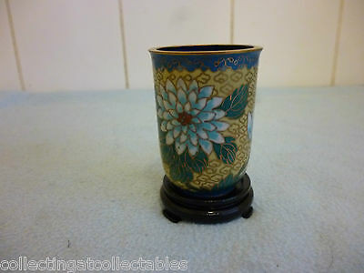 Vintage  Chinese Cloisonne Beaker / Vase With Stand Ref 001