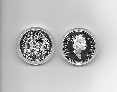 1999 Canada Dollar Year Of The Older Person Proof Coin  Low Mintage 24,976