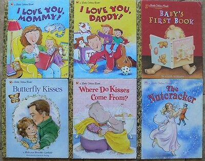6 Little Golden Books ~ BABY'S FIRST BOOK, NUTCRACKER, I LOVE YOU MOMMY! DADDY!