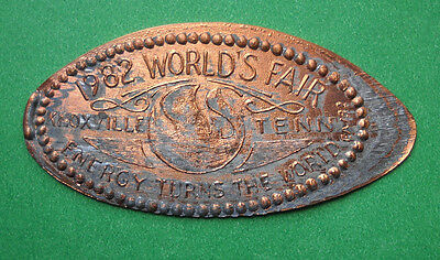 World's Fair 1982 elongated penny Knoxville TN USA cent Energy souvenir coin