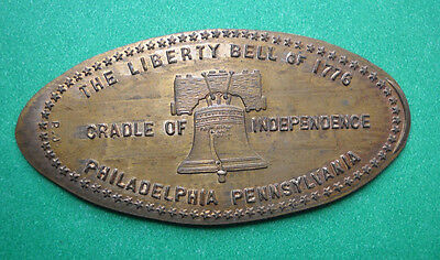 Liberty Bell elongated penny Philadelphia PA USA cent 1776 souvenir coin