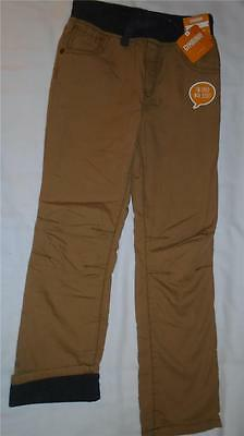 NEW Boys Size 8 Gymboree Pants Brown Straight Fit 2016 Elastic Waist $34 NWT