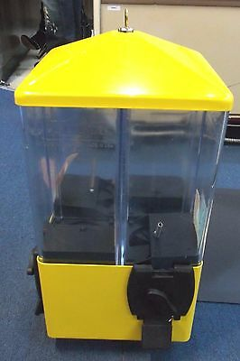 U-Turn Candy Machine 4 Sided on Stand with Lock and Key Bright Yellow BRAND NEW!