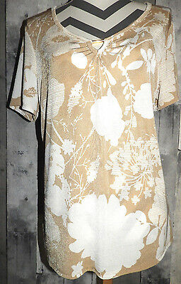 Women's Size LARGE Shirt Top Bouse NEW Jaclyn Smith Summer Short Sleeves